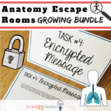 Anatomy & Physiology Review.  Escape Room Bundle
