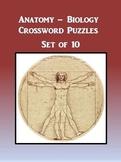 Anatomy Biology Crossword Puzzles Set of 10