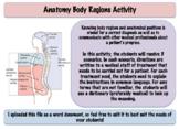 Anatomy Body Regions Activity (Editable)