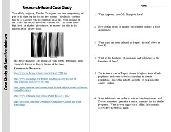 Skeletal System Case Study: Paget's Disease of the Bone