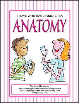 Anatomy I Have Who Has game