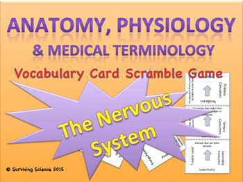 Anatomy/ Medical Terminology: Nervous System Vocabulary Sc