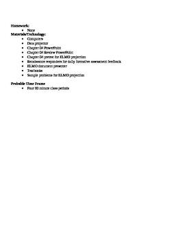 Anatomy - Metabolism Block Schedule Lesson Plan