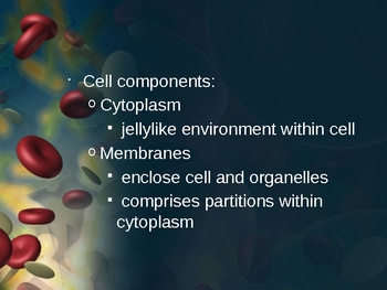 Anatomy& Physiology (Cells/Tissues) PowerPoint