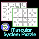 Anatomy & Physiology: Muscular System Puzzle