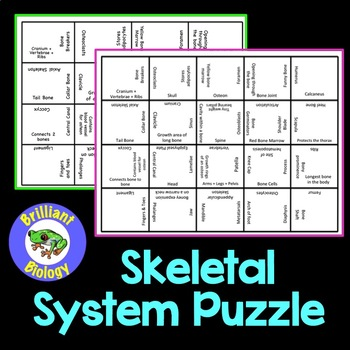 Anatomy & Physiology: Skeletal System Puzzle