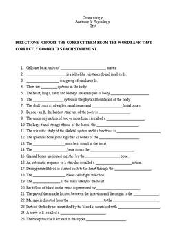 Anatomy & Physiology Test/Quiz