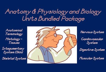 Anatomy & Physiology Biology Units Full Year Bundled Package