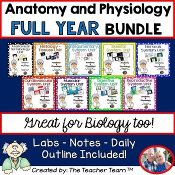 Anatomy Physiology and Biology Units Full Year Bundled Package