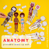 Anatomy Printable Dress-up & Magnetic Paper Doll for Study