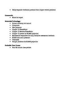 Anatomy - Properties of Blood Block Schedule Lesson Plan