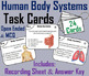 Anatomy Task Cards Bundle/ Human Body Systems Task Cards: