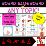 Anatomy Theme Game Board for ANY TOPIC