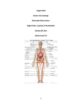 Anatomy Unit Plan