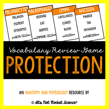 Anatomy Vocabulary Review Game - Protection