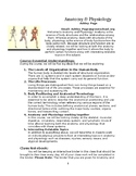 Anatomy and Physiology HS Syllabus