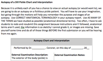 Anatomy and Physiology Introductory Unit Scenario