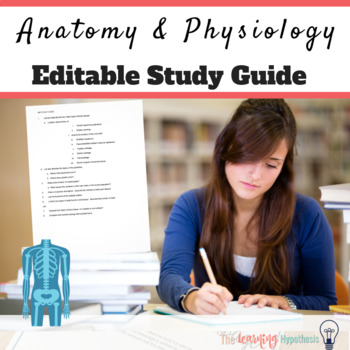 Anatomy and Physiology final exam review  Editable  Test Prep
