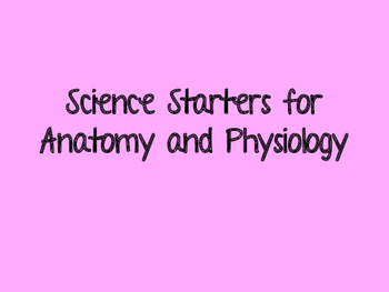 Anatomy and Physiology Science Daily Five Essential Scienc