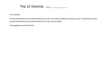 Anatomy of Panem - Hunger Games Districts Organization Chart