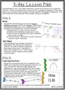 Anatomy of Quadratic Function Mini-Bundle