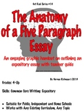 Lesson Plan for 5 Paragraph Essays: Common Core Writing Worksheet