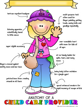Anatomy of a Child Care Provider Print - Blond