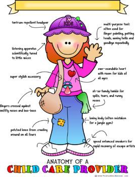 Anatomy of a Child Care Provider Print - Redhead