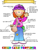 Anatomy of a Child Care Provider Print - Redhead