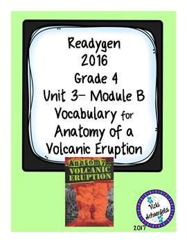 Anatomy of a Volcanic Eruption Readygen Grade 4 Unit 3B Vocabulary