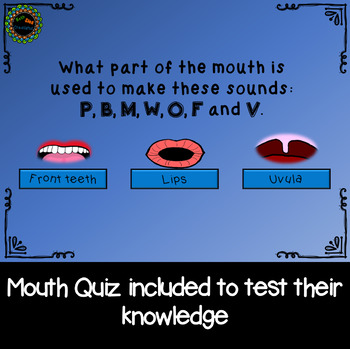 Anatomy of the Mouth for Articulation, Speech Therapy No Print distance learning