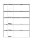 Ancedotal Note Sheet