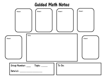 Ancedotal Notes for Guided Math