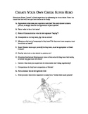 Anceitn Greece: Create your own Super Hero Assignment