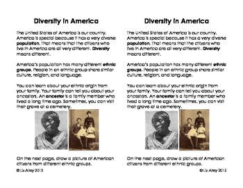 American Diversity Interactive Notebook