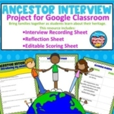 Ancestor Interview for Google Classroom | Distance Learning