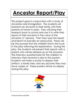 Ancestor Report and Play