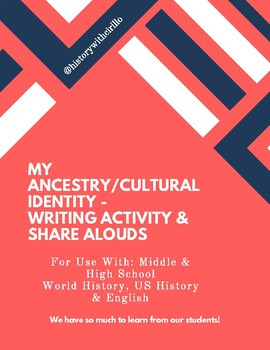 Ancestry Writing Activity & Share-Alouds!