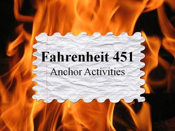 Fahrenheit 451 Choice Board/Anchor Activities