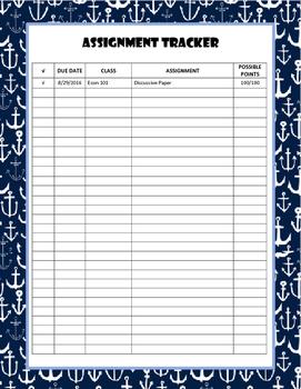 Anchor Assignment Tracker