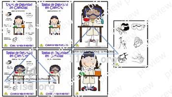 Anchor CHart (Spanish) Safety Science - Reglas de seguridad en Ciencias