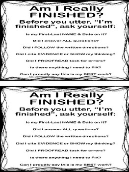 Anchor Chart -Am I Really Finished ?