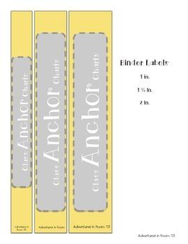 Anchor Chart Binder