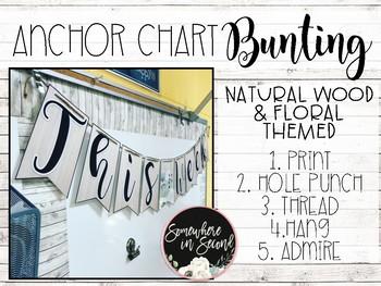 Anchor Chart Bunting-Natural Wood Decor