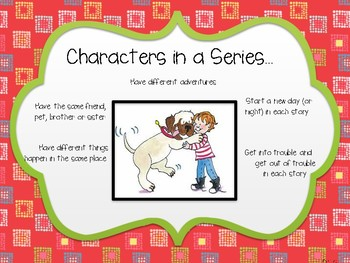 Anchor Chart- Characters in a Series