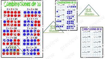 """Anchor Chart """" Combinaciones de 10"""" (Spanish)"""