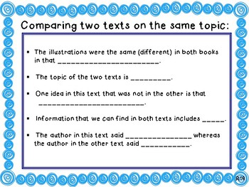 Anchor Chart- Comparing Two Texts on the Same Topic