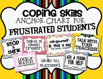 Anchor Chart:  Coping Skills & Strategies for Frustration in Class