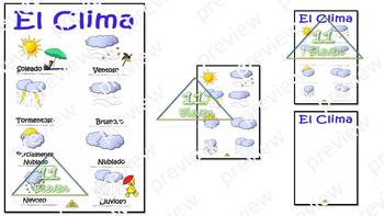 "Anchor Chart "" El Clima"" (Spanish)"
