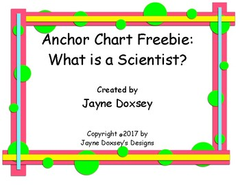 Anchor Chart Freebie: What is a Scientist